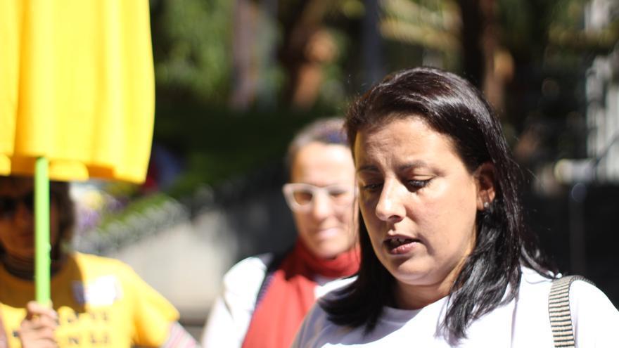Mónica García, presidente de Kellys Unión Tenerife, y denunciante de un supuesto caso de discriminación laboral
