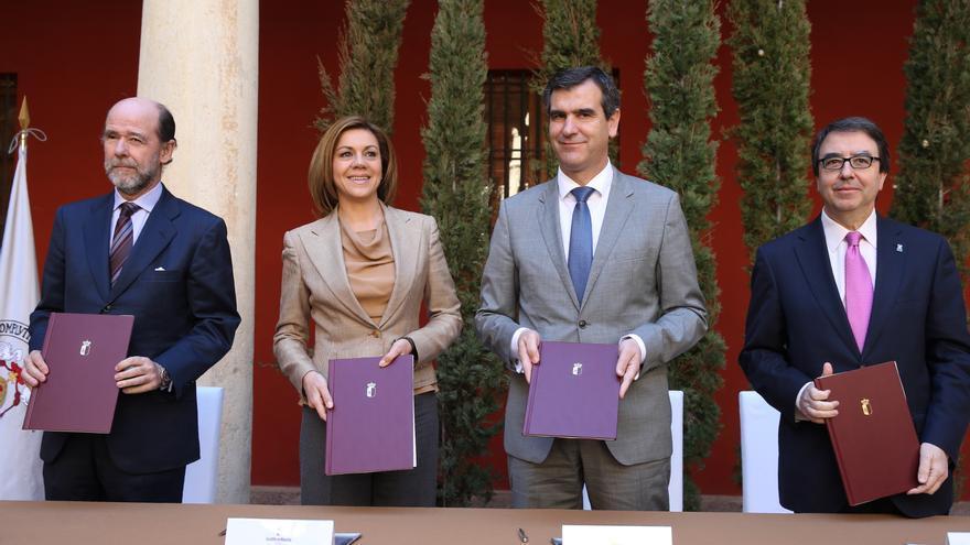 Firma de protocolo para el Campus de Guadalajara de la UAH. Foto: JCCM