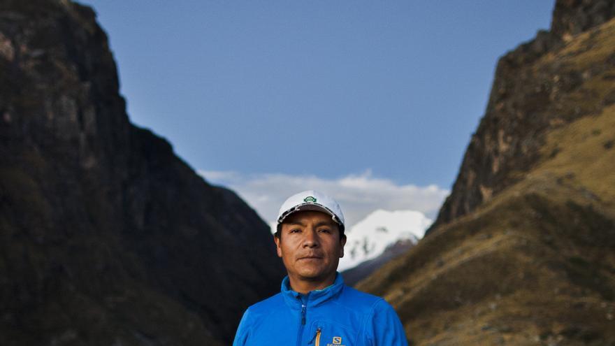 Saúl Luciano Lliuya, agrisultor y guía de montaña peruano. Foto: Alexander Luna.