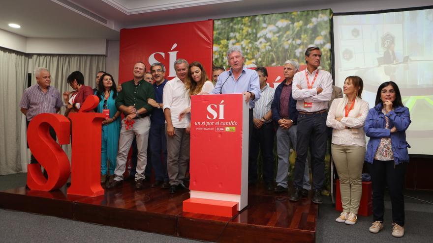 Pedro Quevedo valora ante los medios los resultados de las elecciones generales durante la noche del 26 de junio