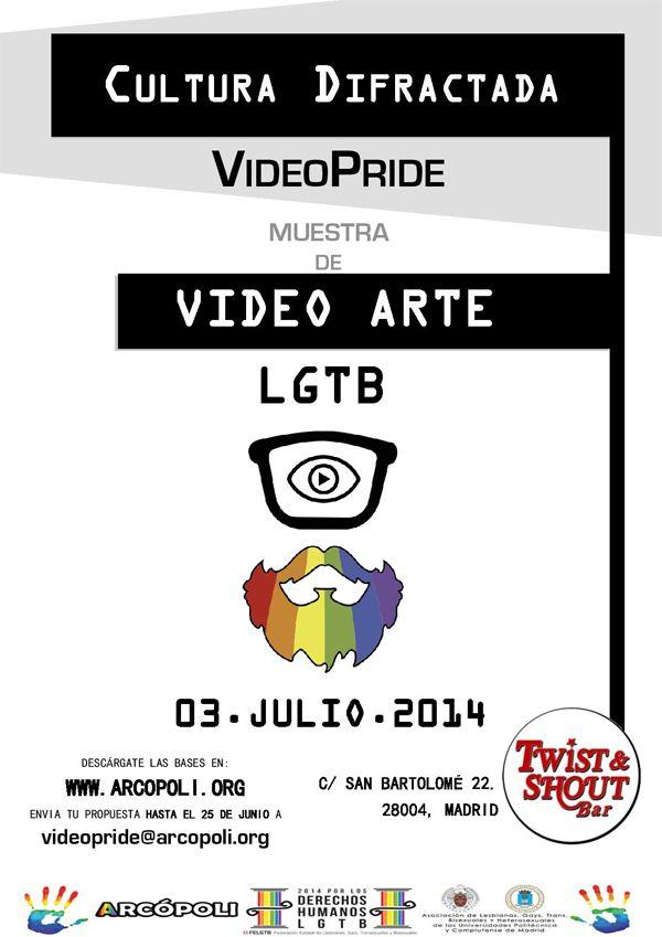 Convocatoria de videoarte LGTB Cultura Difractada: VideoPride de Arcópoli
