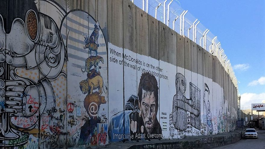 Mur de separació entre Hebron i Betlem