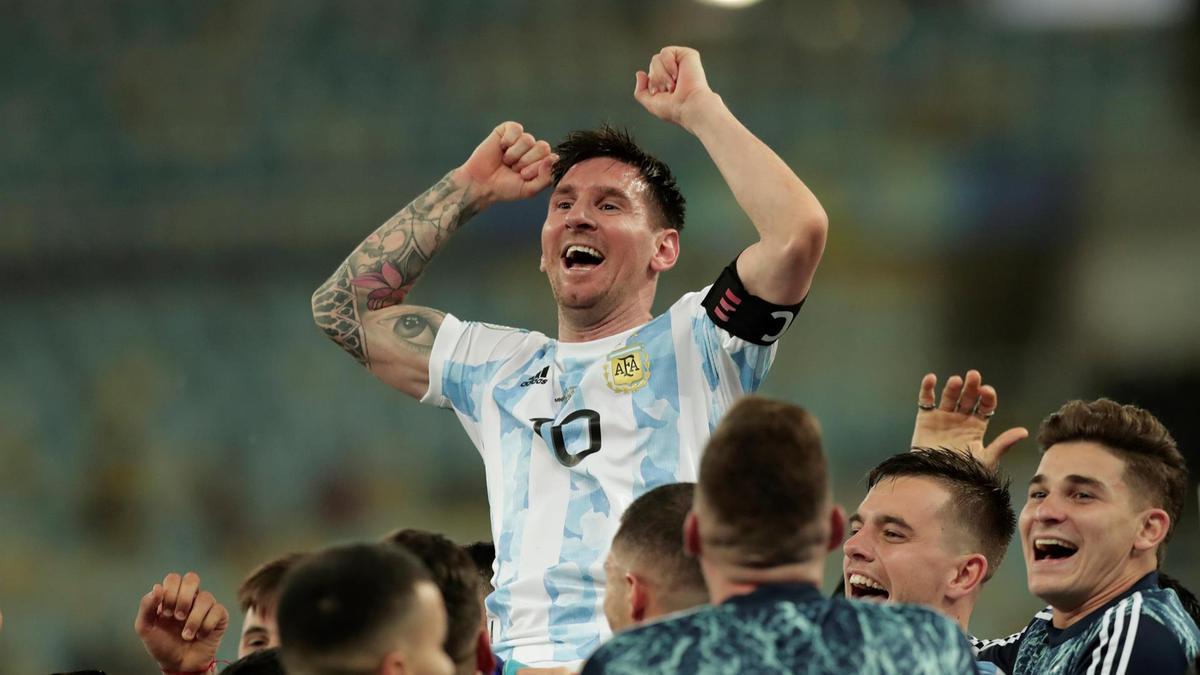 Messi, en lo más alto