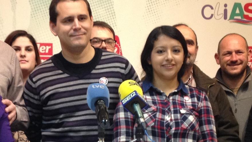Sergio Ramos y Margarita Guerrero, el día de la presentación de 'SER de Izquierdas'