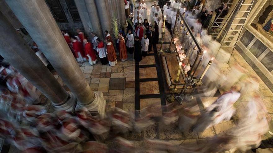 Ambiente festivo y alta asistencia en el Domingo de Ramos de Jerusalén