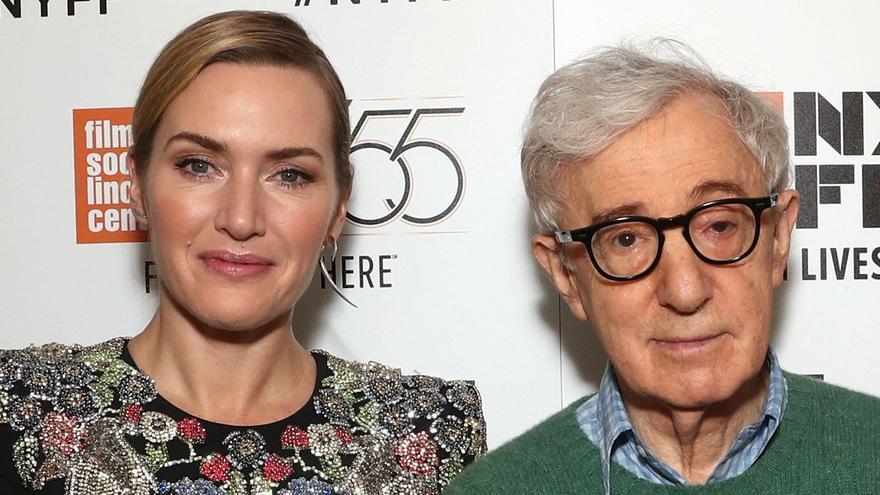 Woody Allen y Kate Winslet, durante la presentación de 'Wonder Wheel' en el Festival de Nueva York