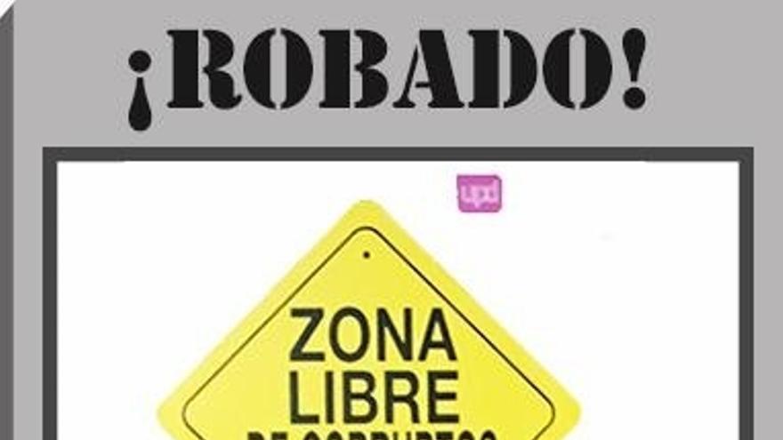 Posada ordenó retirar el cartel 'Zona libre de corruptos' que UPyD colgó en su despacho del Congreso en Puertas Abiertas