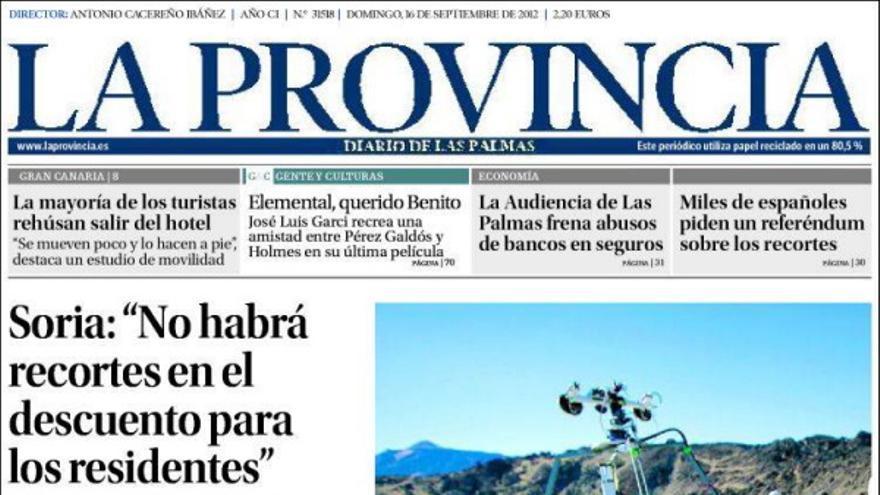 De las portadas del día (16/09/2012) #1