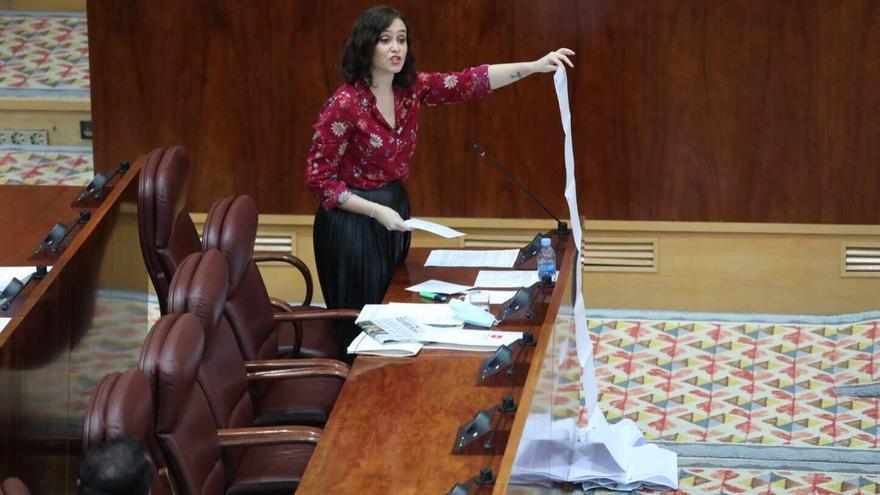 Diaz Ayuso en la Asamblea de Madrid.EP.