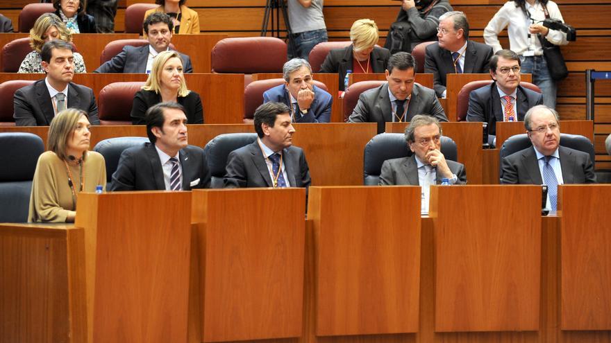 Bancada del Partido Popular en las Cortes de Castilla y León.