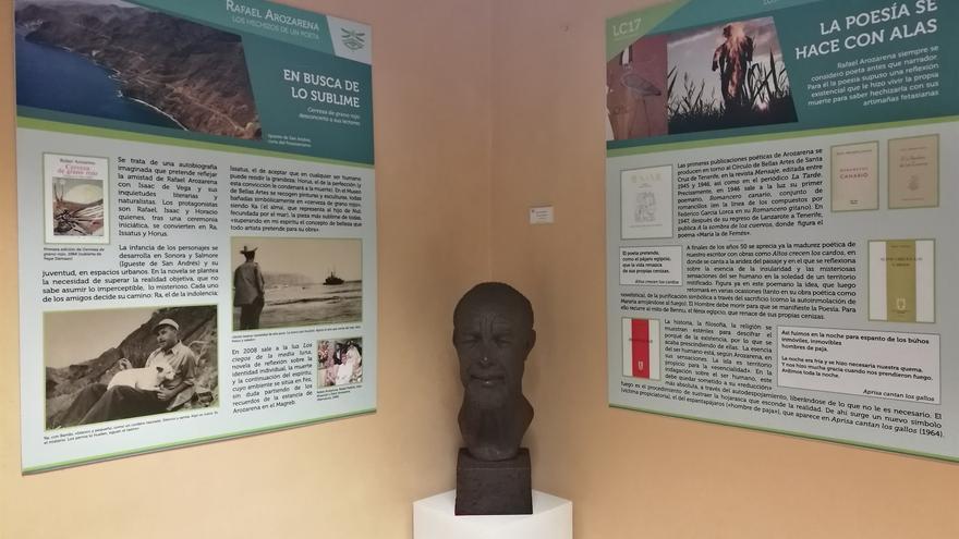 Parte del montaje que se puede ver en la sede de la Sociedad Económica de Amigos del País, en La Laguna