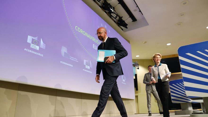 El presidente del Consejo Europeo, Charles Michel, y la presidenta de la Comisión Europea, Ursula von der Leyen.