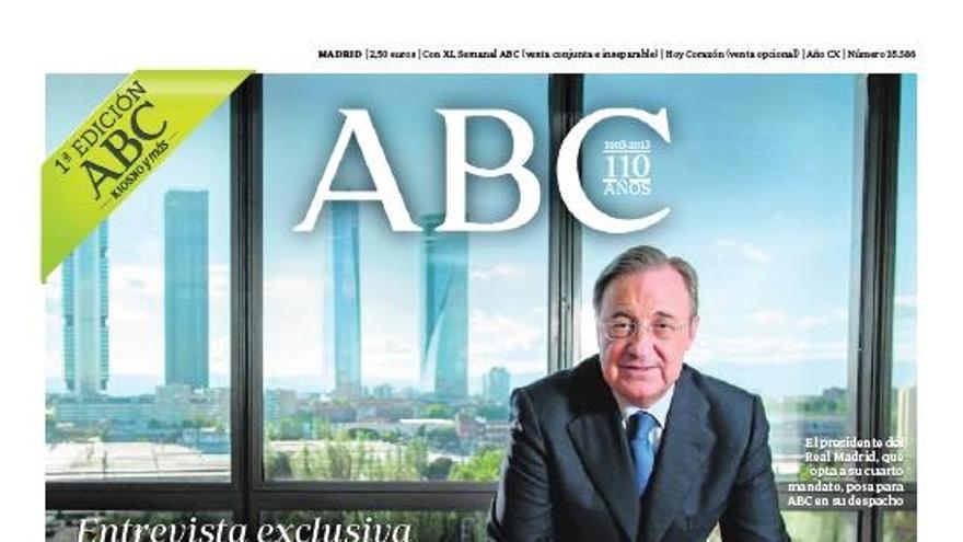 Portada del ABC con Florentino Pérez