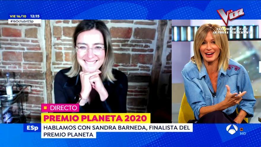 Sandra Barneda, entrevistada por Susanna Griso en 'Espejo Público'
