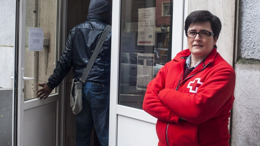 Sandra García Liaño, responsable del Programa de Atención a Refugiados de Cruz Roja. | JOAQUÍN GÓMEZ SASTRE