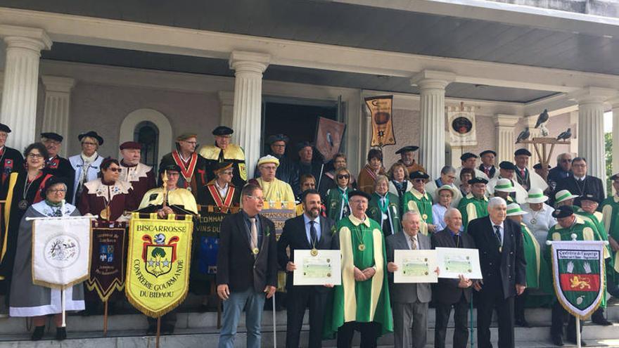 Un momento de la celebración institucional de la Fiesta del Espárrado en la localidad francesa FOTO: Ayuntamiento de Azuqueca de Henares