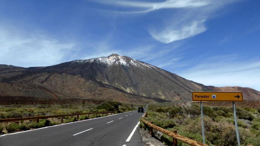 Vista del Teide desde el Parador, en una imagen de archivo