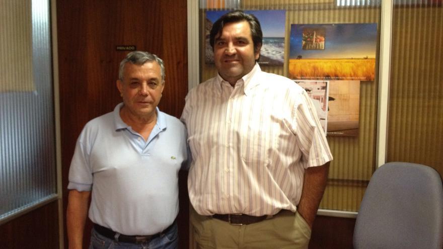 José Domínguez y Bernardo Pelayo, exportadores de mariscos.
