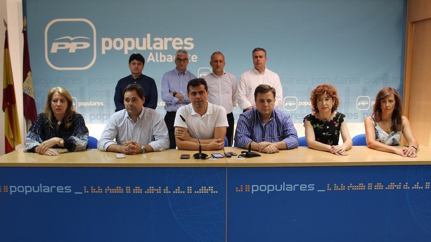 Imagen de la rueda de prensa convocada de urgencia este sábado. FOTO: Ayuntamiento de Albacete