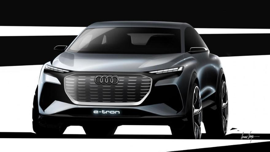 Prototipo del Audi Q4 e-tron.