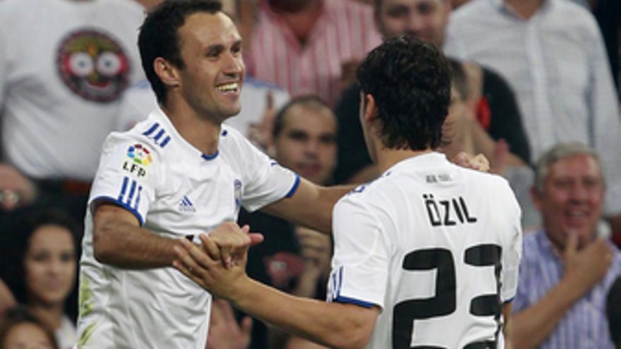 Carvalho celebra el gol