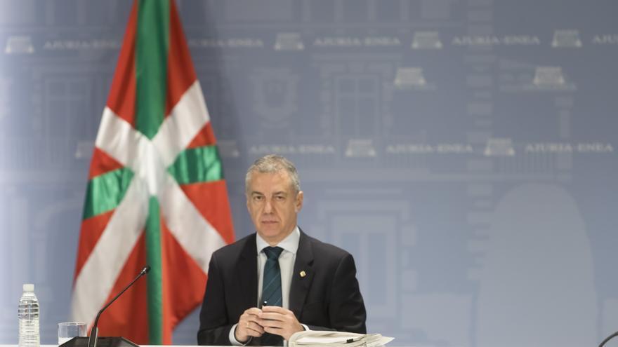 El lehendakari, después de la reunión de este jueves con los representantes de los partidos políticos vascos para evaluar los escenarios de cara a la convocatoria de elecciones
