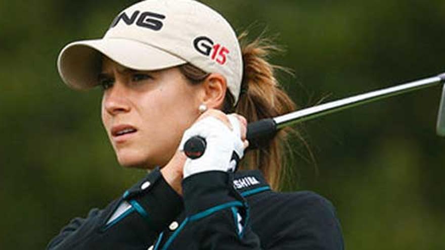 La malagueña Azahara Muñoz, una de las mejores jugadores de golf de Europa.