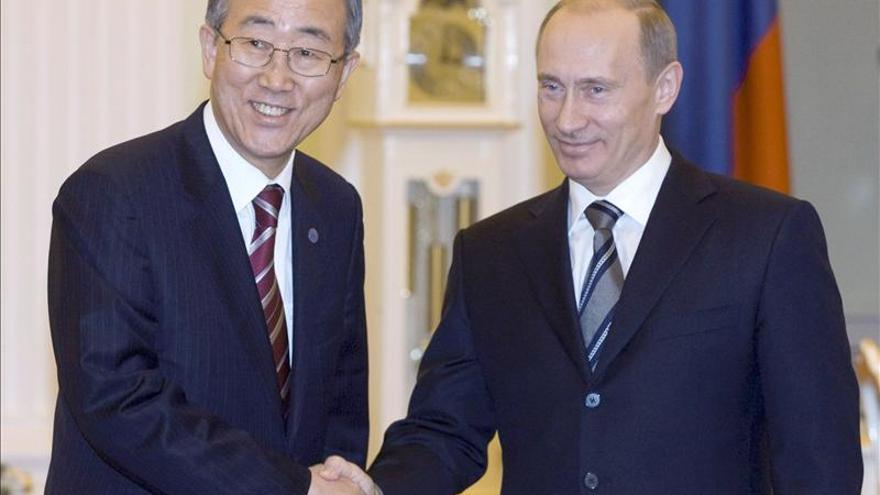 Putin y Ban Ki-moon se reúnen para abordar el conflicto sirio