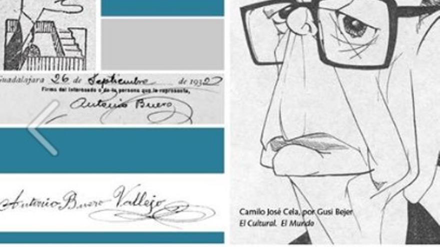 Las firmas de Buero Vallejo y Camilo José Cela