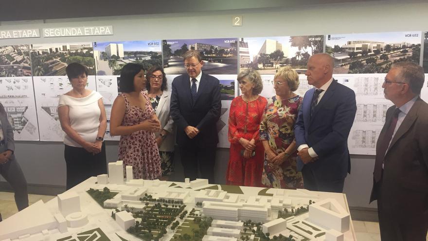 El presidente del Consell, Ximo Puig, presenta el proyecto del Espai Sanitari Campanar-Ernest Lluch a la ministra de Sanidad, María Luisa Carcedo