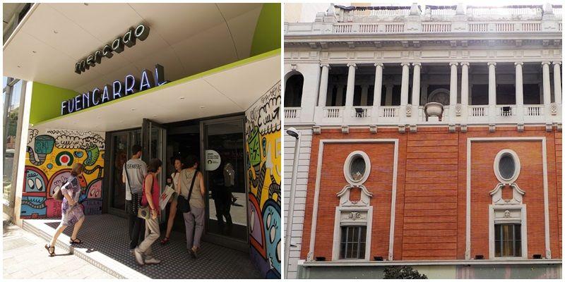 Mercado de Fuencarral (dcha) y Palacio de la Música (izda), dos posibles sedes para Uniqlo