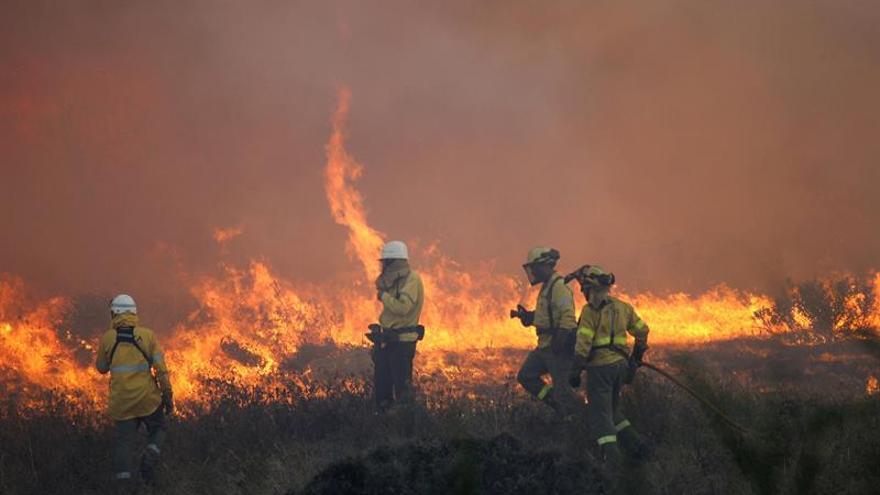 Bomberos remojan el incendio de Sant Feliu Sasserra, que ha calcinado 92 hectáreas