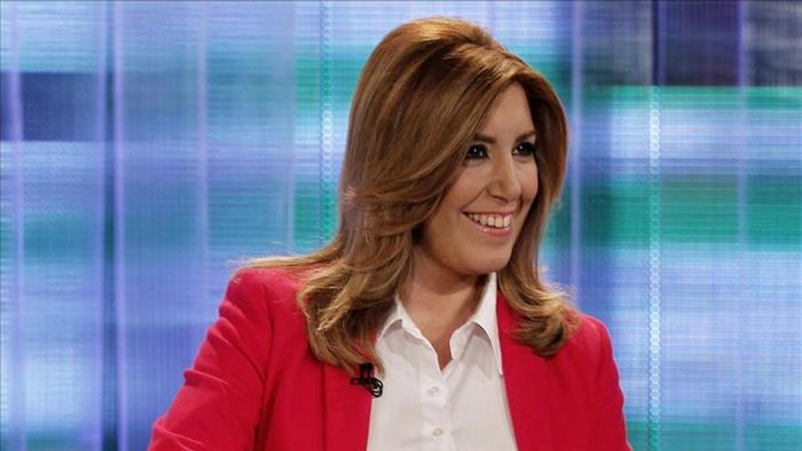 Susana Díaz, satisfecha con su intervención en un debate que confía sea útil