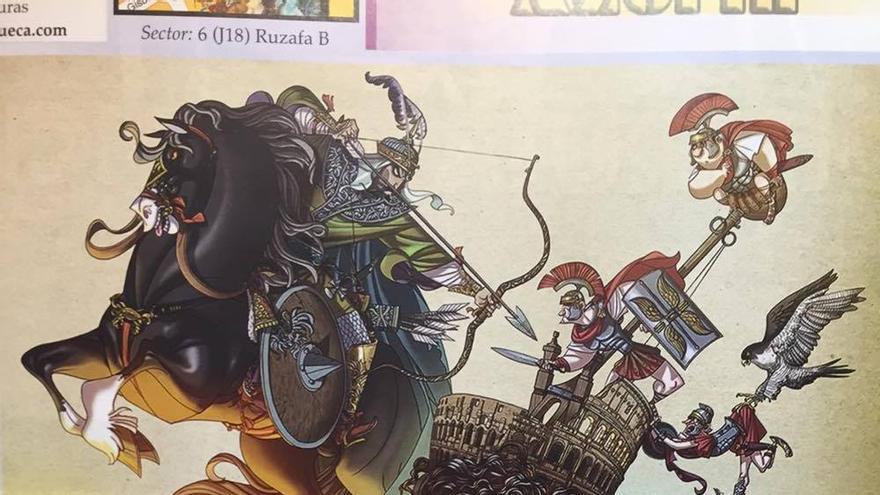 Boceto de la falla Sueca-Literato Azorín