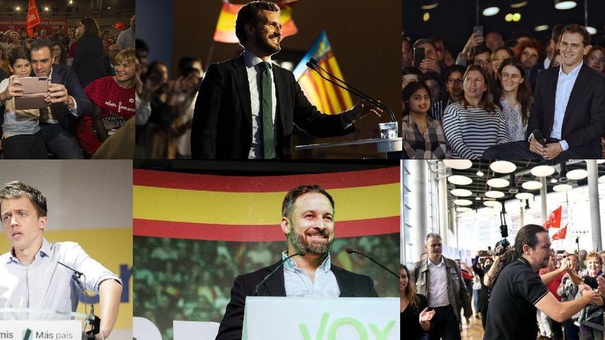 Los candidatos que compiten por escaños en la Comunitat Valenciana.