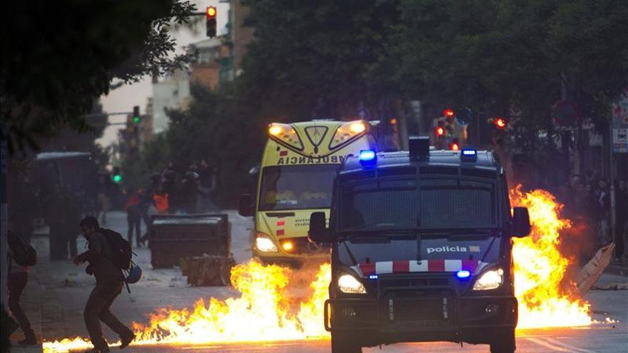 Violentos incidentes tras una manifestación de protesta por un derribo de Can Vies