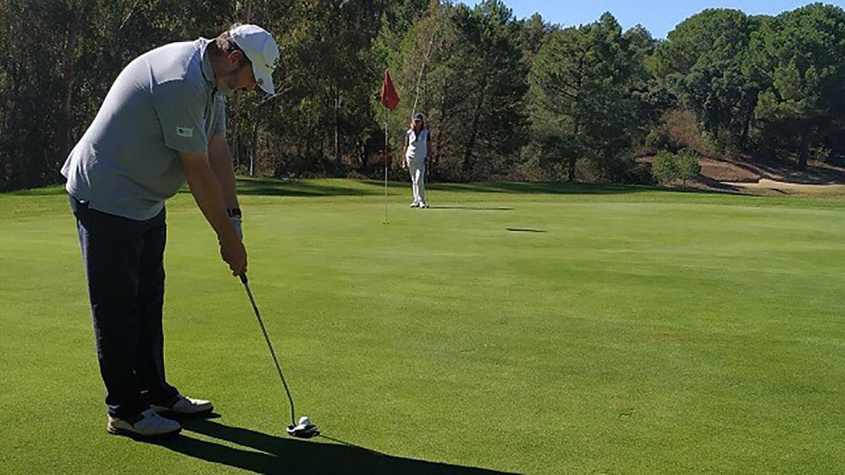Imagen de un golfista en el Real Club de Campo.