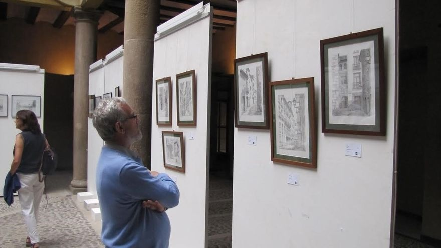 La UNED de Tudela acoge la exposición 'Desde el juicio' de Alberto Sola
