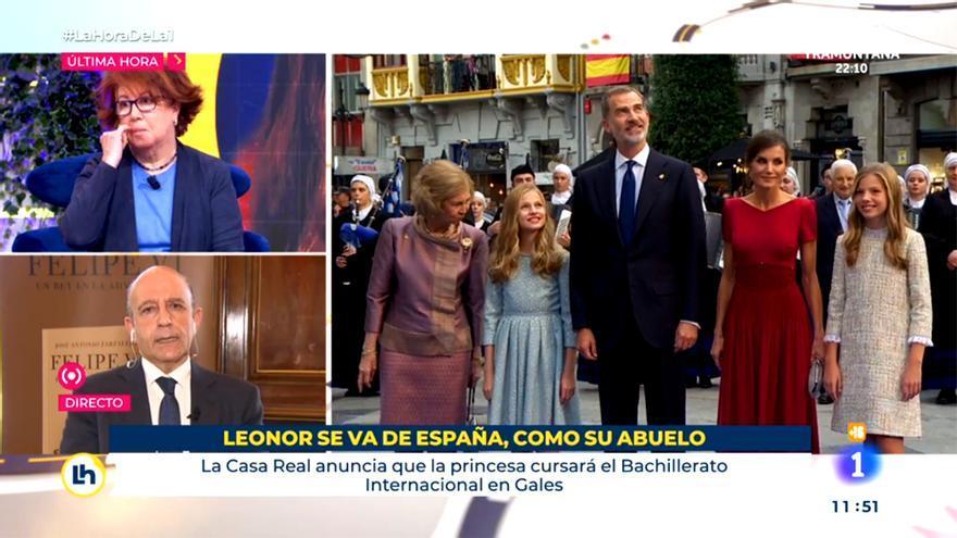 El polémico rótulo sobre la Princesa Leonor en TVE