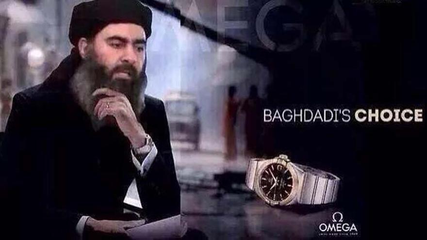 Parodia del discurso del líder de ISIS, Abu Bakr al- Baghdadi. Fuente: Louay al-Khatib en twitter