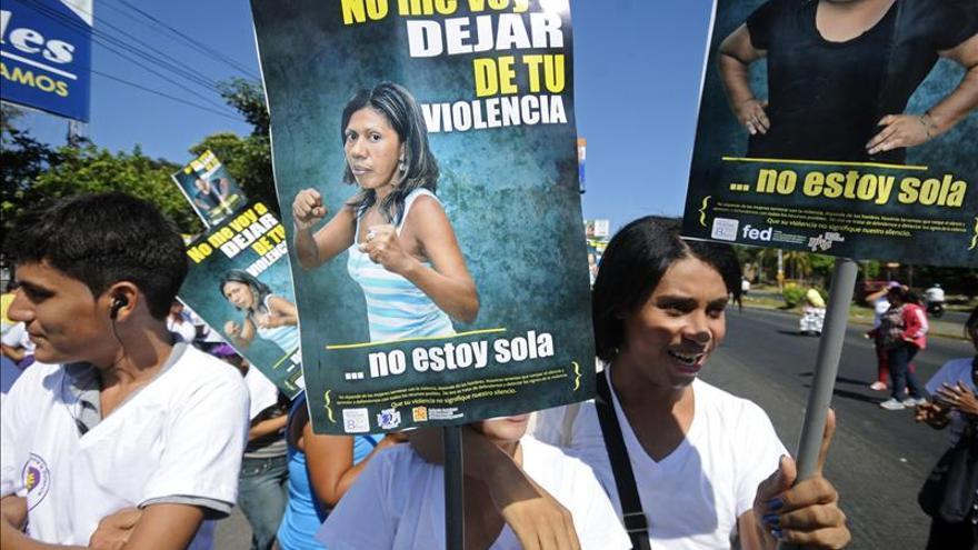 Manifestación contra la violencia machista el pasado noviembre en Managua./ EFE