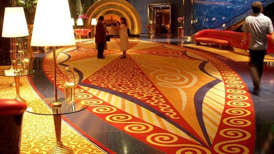 Recepción del Burj Al Arab. IMAGEN: Fiontain