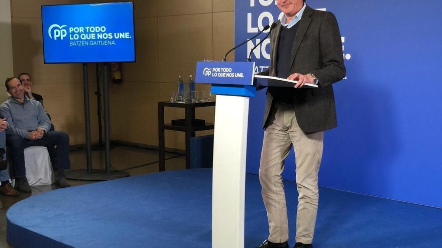 """PP vasco ve """"muy probable"""" que E-Podemos apoye los Presupuestos tras haberse """"domesticado"""" y ser """"sostén"""" del PNV"""