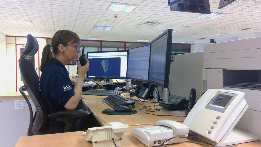 Sala operativa del Centro Coordinador de Emergencias y Seguridad (Cecoes) 1-1-2.