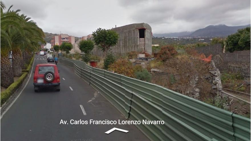 En la imagen, a la derecha, obra sin terminar del futuro Parque Cultural Islas Canarias en la Avenida Carlos Francisco Lorenzo Navarro de Los Llanos de Aridane.
