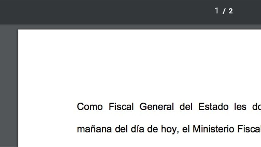 El título del archivo del comunicado de prensa con el que la Fiscalía ha dado a conocer las querellas por rebelión interpuestas este lunes contra Carles Puigdemont.