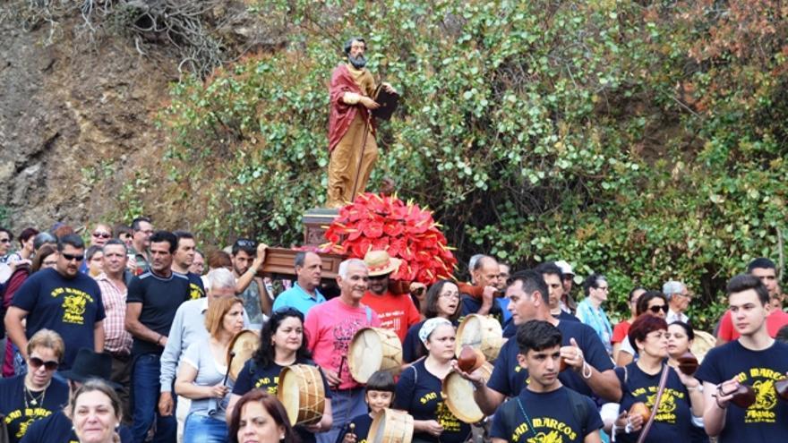 Un instante de la procesión