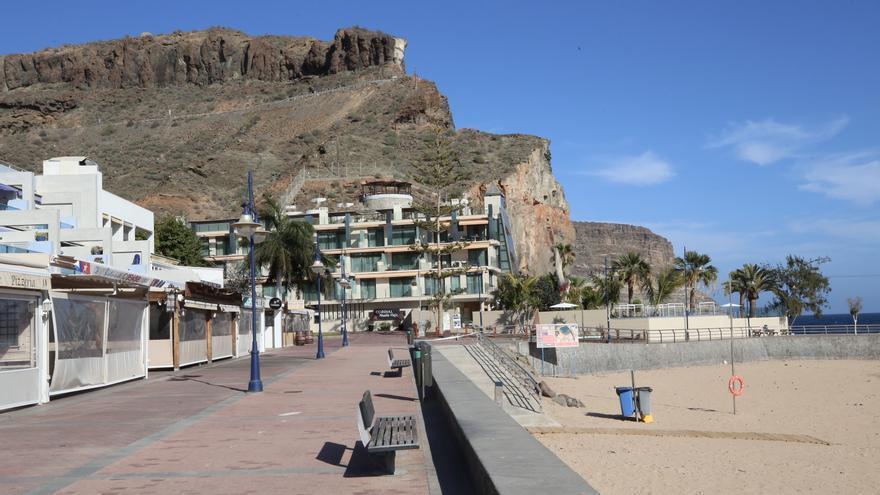 Puerto de Mogán, vacío en plena Semana Santa.