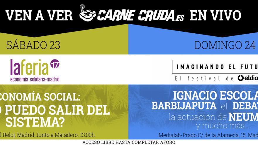 Ven a ver el #CarneCrudaTour en directo