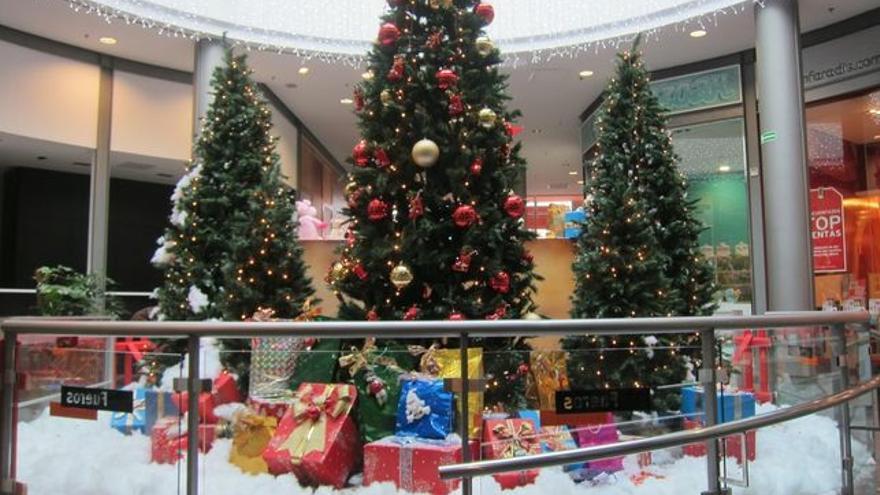 Decoración navideña de unos grandes almacenes.